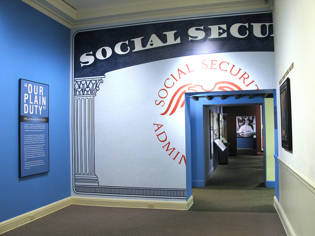 Social Security exhibit at the FDR Museum. Creative Commons 2011, some rights reserved. https://creativecommons.org/licenses/by/2.0/